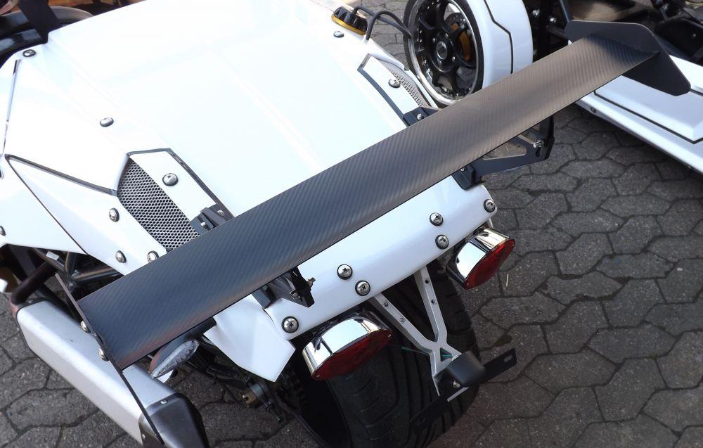 Spoiler Heckspoiler Windleitblech ohne Straßenzulassung keine E-Nummer Carbon Optik