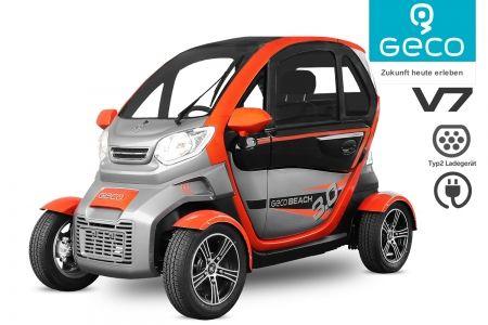 GECO Beach V7 Modell 2020 Elektrofahrzeug Elektroauto E-Car Elektromobil EEC Straßenzulassung 3Kw elektro