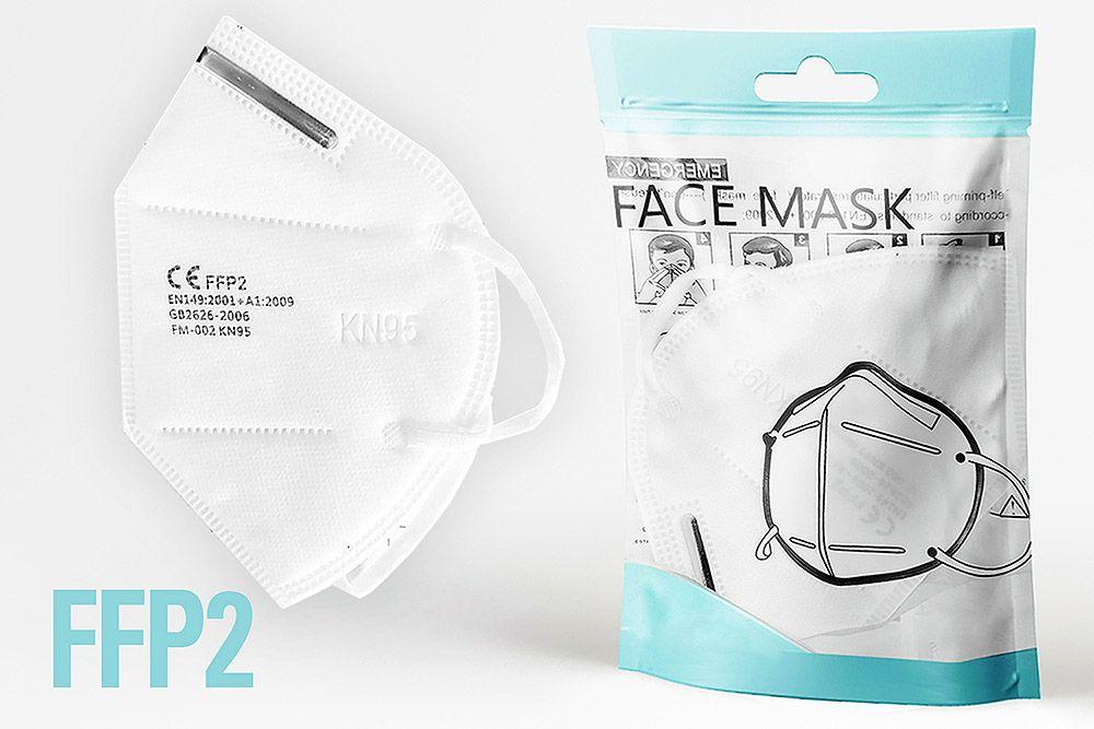 FFP2 KN95 10er Packung Schutzmasken einzel Atemschutzmasken Feinstaub Corona COVID 19 Maske Medizinisch Mundschutz Gesichtsmaske Zertifiziert Qualität Virus