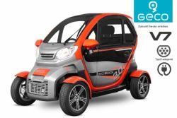 120 km Reichweite GECO Beach V7/8 Modell Lithium Ion Batterien 72V 84 Ah 2020/21 Elektrofahrzeug Elektroauto E-Car Elektromobil EEC Straßenzulassung 3Kw elektro