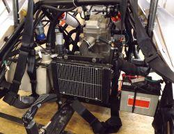 Kühler groß unten mit Lüfter und Sensoren Kühlung Lüfter groß Sensor Thermostat.