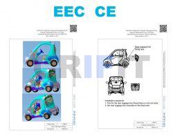 Neu Colibri LUNA1 Elektrofahrzeug E-Car Elektromobil Elektro Elektroauto 45-80 km/h Straßenzulassung EEC EWG Electric Car
